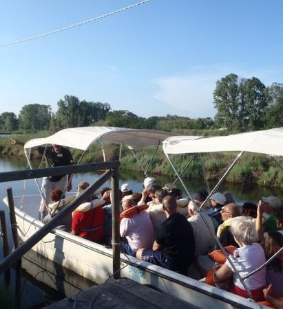 In Salina in barca